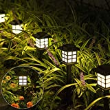 Solpex Solar Garden Lights,12 Pack Solar Path Lights, Solar Walkway Lights Outdoor, Solar Pathway Lights Outdoor Waterproof for Garden, Patio, Yard, Landscape, Pathway and Driveway(Warm White)