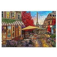 1000ピース ジグソーパズル,Evening In Paris パリの夜 木製パズル オモチャ 教育ゲーム 大人 減圧 Jigsaw Puzzle 子供 パズル 脳開発 知育玩具 人気 贈り物