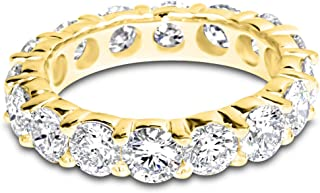4 Carat (ctw) 14K White Gold Round Diamond Ladies Eternity Wedding Anniversary Stackable Ring Band Ultra Premium Collection