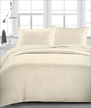 """Linenwalas Summer Special Anti-Pilling Cotton 310TC Satin Stripes King/Double Quilted Dohar/Ac Comforter - 80""""x 90""""- Ivory"""