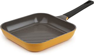 "Neoflam 11"" Ceramic Nonstick Square Grill Pan, Corn Yellow"