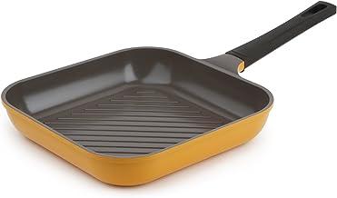"Neoflam 11"" Ceramic Nonstick Square Grill Pan, Corn Yellow"