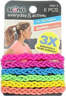 Scunci Everyday and Active Strand Elastics | Assorted Colors | 6-Pcs per Pack | 1-Pack
