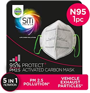 Dettol Anti Pollution Mask N95 Siti Shield Activated Carbon, 1 Unit