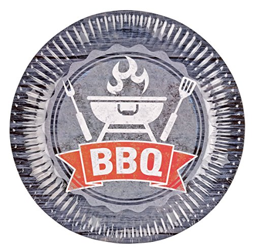 Affordable amscan 9901855BBQ Party Mixed Multi-Color Plates 23cm