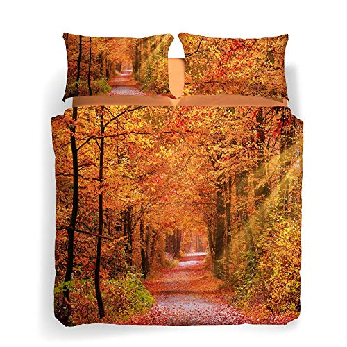 Caleffi Copripiumino Matrimoniale Autumn Leaves Unica in Cotone - 80107