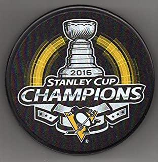 Pittsburgh Penguins 2016 Stanley Cup Champions Official NHL Puck + FREE Puck Cube