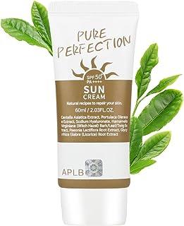 APLB Pure Perfection Sunscreen SPF 50+/PA++++ 2.03 fl. Oz (60ml)   Korean Skin Care, Sun Cream, Non-Smudge & Non-Sticky, K...