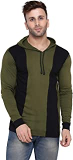 Rezalia Men's Hood Full Sleeve Cotton T-Shirt