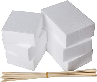 Styrofoam Square Blocks Rectangle Blocks Flower foam 2 Sizes 6 x 4 x 2 and 4 x 4 x 2 inches Sculpture Craft Foam- For Crafting Floral Foam 24 Pack Foam Blocks DIY Arts And Crafts Modeling