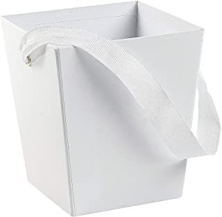 Fun Express - White Cardboard Bucket W/ribbon Handle for Wedding - Party Supplies - Containers & Boxes - Paper Boxes - Wedding - 6 Pieces