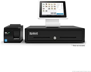 Square POS Bundle - Stand for iPad Air - A-SKU-0021, Star Micronics TSP143IIU USB Receipt Printer and Epsilont Cash Drawer (Black)