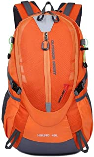 SP-Xhz Outdoor Hiking Backpack Student Travel Backpack Unisex Hiking Backpack (Color : Yellow, Size : 55 * 20 * 37cm)