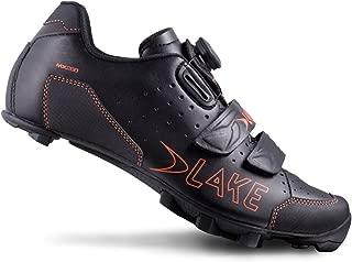 Lake Cycling 2016 Men's MX228 Mountain Cycling Shoes - Black/Orange (Black/Orange - 42.5)