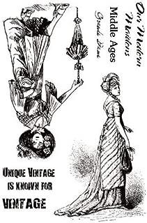 Chapitre m/édi/éval Tic-Tac Tampons Dame Vintage Clear Stamps Transparent Plus r/écent 11x16cm