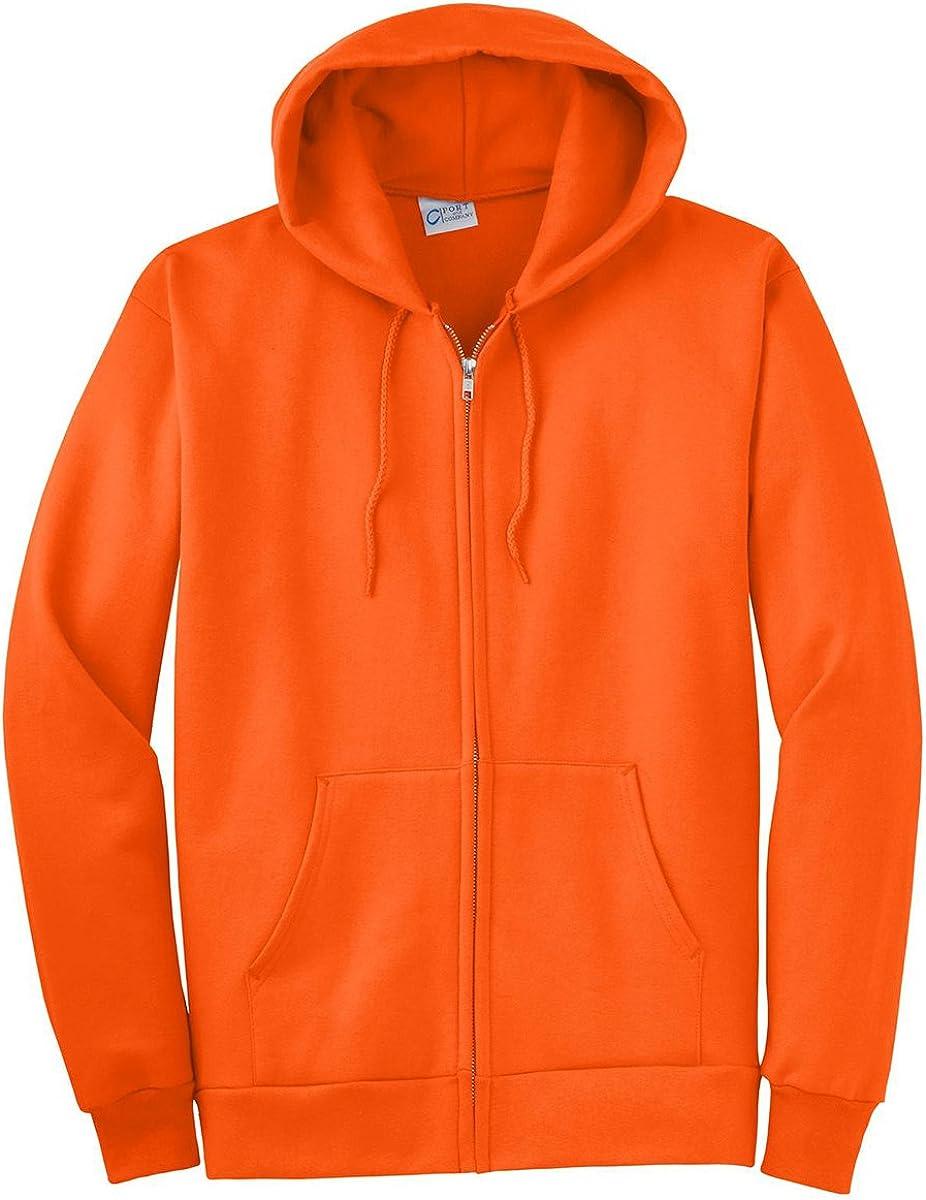 Port & Company Tall Ultimate Full Zip Hooded Sweatshirt-XLT (Safety Orange)
