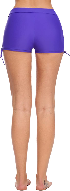 XS-XL Avidlove Swim Shorts for Women Solid Boyleg Bikini Bottom Shorts Swimsuit with Adjustable Ties