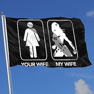 QphonesFlag Your Wife, My Wife Wonder Woman Superhero Husband Flag 3x5-Flags 90x150CM-Banner 3'x5' FT
