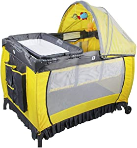 Folding Bassinet  Portable Multifunctional Children s Play Bed  Suitable For 0-36 Months 107 73cm