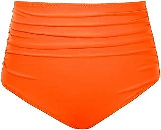 Tempt Me Women High Waisted Bikini Bottom Retro Ruched Swim Short Shirred Tankinis Brief