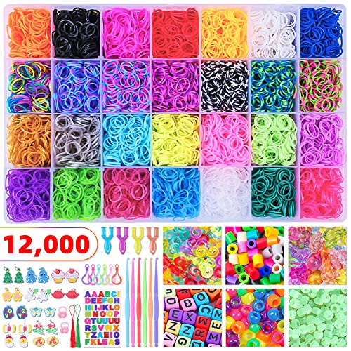 300 pcs, Colorful Creammuffin S Clips Connectors Rubber Connectors Refills for Loom Rubber Band for DIY Bracelet Making Refill Kit