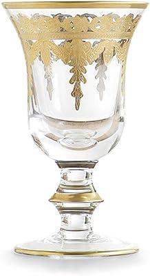 Arte Italica Vetro Gold Water Wine Glass - Set of 4