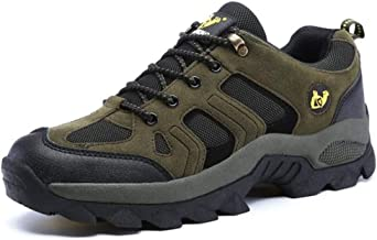 YENLI Men Women Outdoor Sports Hiking Shoes Rock Climbing Trekking Footwear Casual Sneakers Walking Wear Resisting Boots (Color : Army Green, Shoe Size : 42 EU)