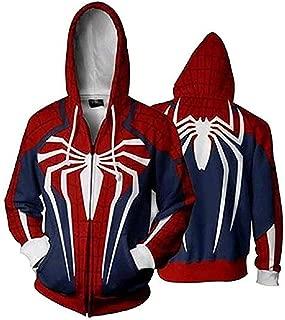 CosplayLife Superhero Unisex Gwen Stacy Iron Spider Hoodie Sweatshirt Kangaroo Pocket | Unisex for Men Women and Kids