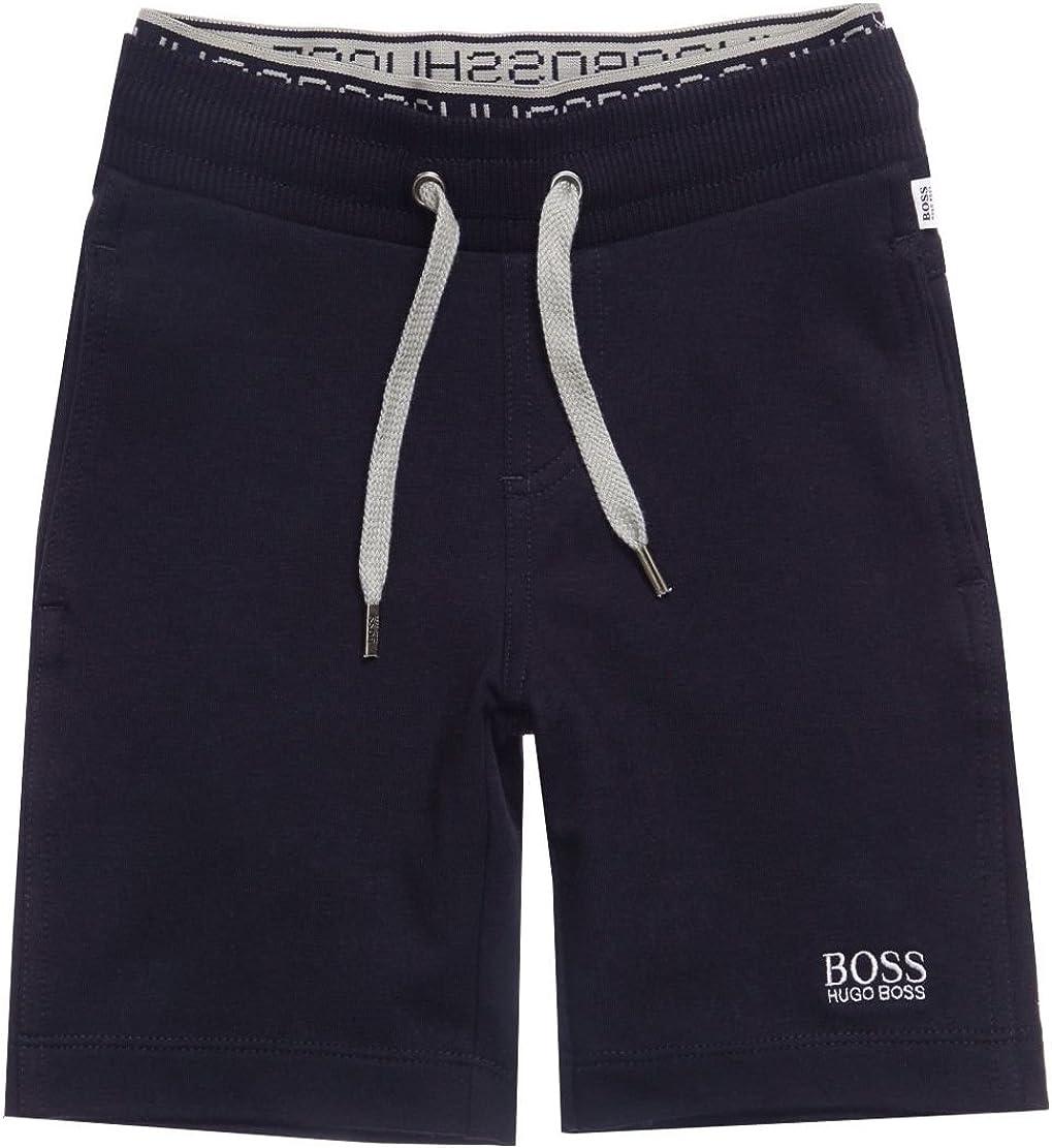 BOSS Navy Jersey Shorts