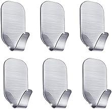 Adhesive Hooks Wall Hooks Hangers Stainless Steel Waterproof Towel Hooks Holder for Hanging Keys, Robe, Coat, Towel, Bags,...