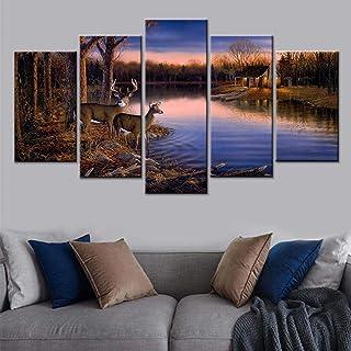 5 peintures HD baskı Moderne ev dekorasyon resim duvar sanatı duvar kağıdı 5 Photos de Coucher de Soleil doğa manzara tuva...