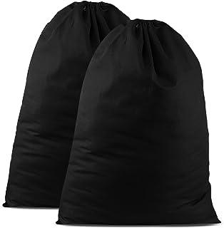 SweetNeedle Lot de 2 sacs à linge en coton très résistants - Couleur naturelle - 71 x 91 cm - Très résistants - Cordon de ...