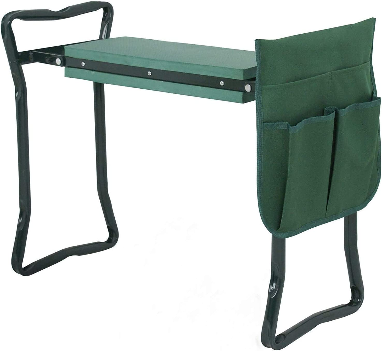 24 inch New color 250-lbs Foldable Kneeler Bench Stool Cushion Same day shipping Soft Garden