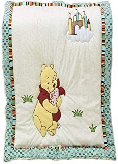 CribMATE Winnie The Pooh Quilted Comforter Unisex Baby Toddler Quilted Blanket (Bear)