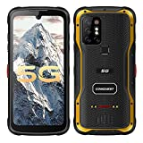 S20 5G Rugged Smartphone Unlocked Cell Phones,Android 11,8G+128G,IP 68 Waterproof 8000mAh Battery,48MP Quad Camera,Night Vision,6.3 Inch Screen,Dual SIM,NFC,POC walkie Talkie (Yellow, 128G)