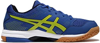 ASICS Gel Rocket 8 - Mens Indoor Court Shoes - Imperial/Sulphur Spring/Silver - All Court Shoes for Badminton Volleyball Squash (UK 6)