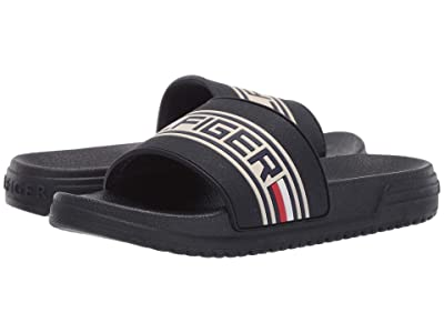 Tommy Hilfiger Kids Geo Logo Slide (Little Kid/Big Kid) (Navy) Kids Shoes