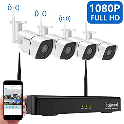 Security Camera System Wireless, Firstrend 8CH ...