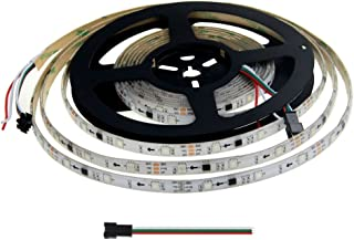 Aclorol WS2811 Digital Addressable LED Strip 12V Programmable 5050 RGB 5M 150 LED Strip Dream Color White PCB IP65 Waterproof