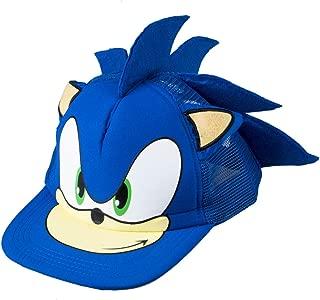 Cute Boy Sonic Hedgehog Cartoon Youth Adjustable Baseball Cap Blue