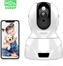 Tovendor 1080P Indoor Video Camera, Smart Home Security Camera with IR Night Vision, 2 Way Talk, Motion Tracking for Pet Dog/Baby/Elder