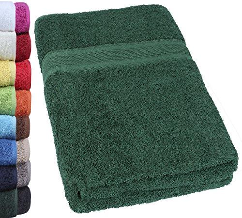 NatureMark SAUNATÜCHER Premium Qualität 80x200cm SAUNATUCH Sauna-Handtuch 100% Baumwolle Farbe: Dunkel Grün