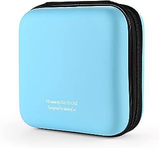 alavisxf xx Capa para CD, capa protetora de espuma vinílica acetinada com capacidade de 48 DVDs, estojo portátil com zíper...