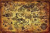 Grupo Erik Editores Poster The Legend Of Zelda (Hyrule Map)