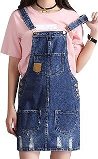 4538a24fc2c2b8 Donna Gonna Salopette Moda Carina Jeans Rompers Breve Vestito Regolabile  Blu Mini Abiti con Tasca
