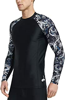 Men's Long Sleeve UPF 50+ Baselayer Skins Performance Fit Compression Rash Guard