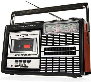 comprar comparacion Ricatech PR85 - Reproductor y grabadora de casetes, Radio AM/FM/SW, USB, Ranura para tarjeta SD, Micrófono integrado, Para...