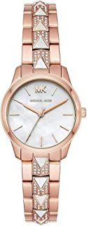 Michael Kors Womens Quartz Watch, Analog Display and Stainless Steel Strap MK6674
