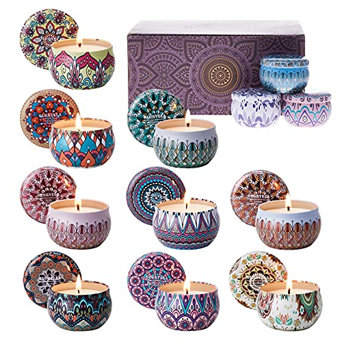 olorvela Scented Candles for Home Scented Candles Gift Set for Women, 12 Pack Aromatherapy Candles Travel Tin Candle