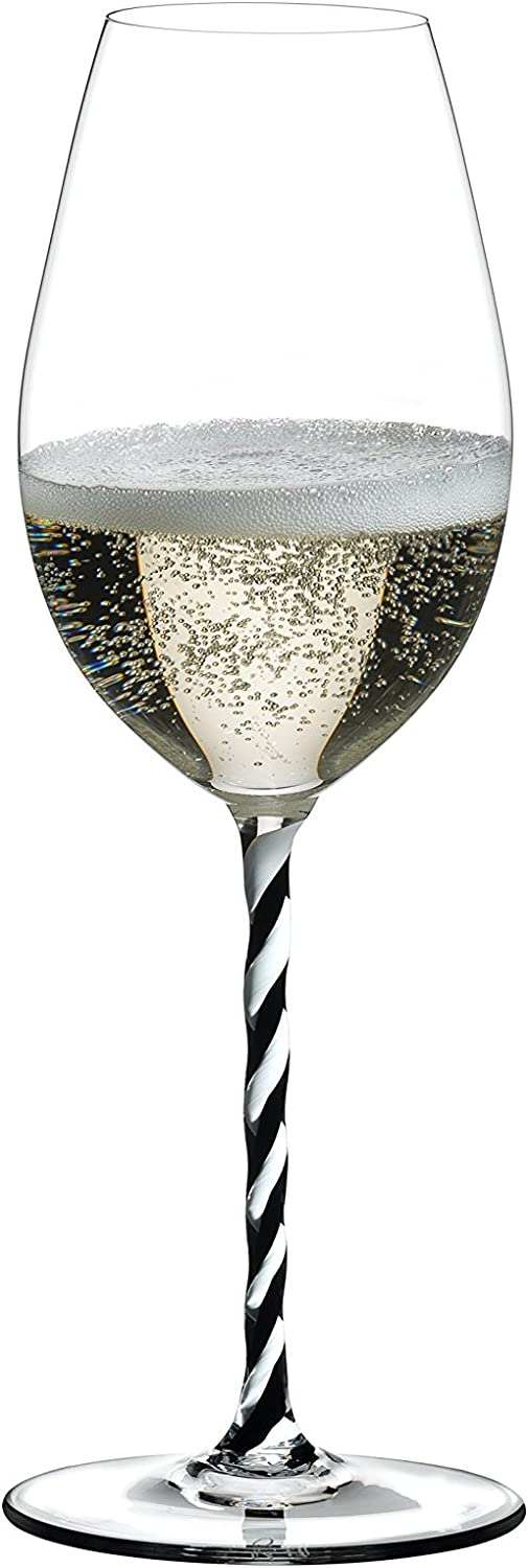 Riedel Fatto A Mano Champagne Wine Glass, Black White